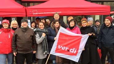 TdL Warnstreik in Magdeburg