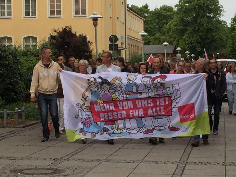Warnstreik am Uniklinikum Magdeburg